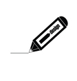 design pencil black vector image vector image