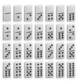domino set realistic 3d white vector image vector image