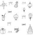 Doodle birthday party art vector image vector image