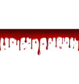 dripping blood seamless banner vector image vector image