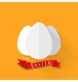 easter with eggs and red ribbon happy easter vector image vector image