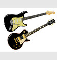 elecric guitars vector image vector image