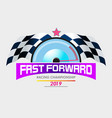 fast forward racing vector image vector image