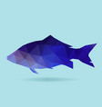 fish polygon silhouette vector image vector image