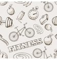 Fitness seamless vintage pattern vector image