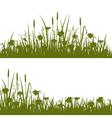 Flower field silhouette vector image