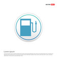 gasoline station icon - white circle button vector image