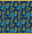 geometric abstract waves in gold and marine blue vector image vector image
