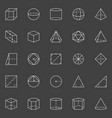 geometric shapes icons vector image vector image