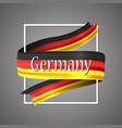 german flag germany 3d realistic ribbon vector image