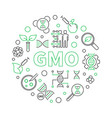 gmo round simple concept outline vector image vector image