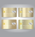 gold credit cards set with colorful vector image vector image