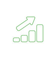 icon concept of sales bar graph moving up color vector image vector image