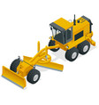 isometric graders used in the construction and vector image vector image