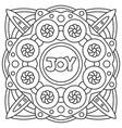joy coloring page vector image vector image