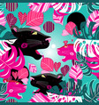 jungle seamless multicolored pattern with vector image