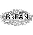 landscapes of england brean text background word vector image vector image
