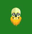 leprechaun skull with an orange beard and a gold vector image vector image