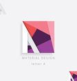 letter A design element for business visu vector image
