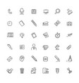 line web icon set - office management vector image