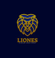logo lion color luxury style vector image