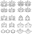lotus set 2 vector image vector image