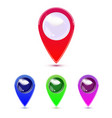 map marker map pin map markers with vector image vector image