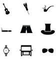 men accessories icon set vector image