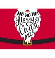 Merry Christmas greeting card template design vector image