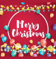 merry christmas greeting card with flying vector image vector image