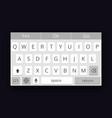 mobile qwerty keyboard vector image vector image