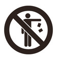 no littering sign vector image