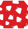 Pattern Silhouette Strawberries vector image