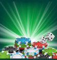 poker poster online poker gambling casino vector image