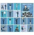 Public Speaking Flat Icons Set vector image vector image