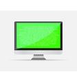 Realistic blank computer monitor icon Display vector image