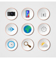 realistic icons vector image vector image