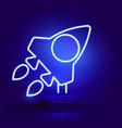 rocket launching spaceship night bright vector image vector image