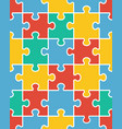 seamless colorful puzzle vector image vector image