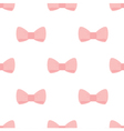 Seamless pastel pink bows on white background vector image vector image