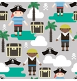 Seamless pattern with pirates Kids fabric texture vector image vector image