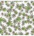 seamless texture marijuana four vector image vector image