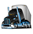 semi truck with trailer cartoon vector image vector image