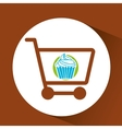 Shopping Cart with dessert vector image vector image