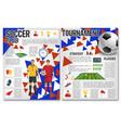 soccer team club football club brochure vector image vector image