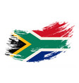 south african flag grunge brush background vector image