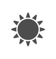 Sun icon Gray vector image vector image