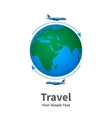 the concept of travel vector image