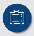 tv sign white contour icon vector image vector image