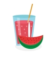 Watermelon juice in a glass Fresh isolated on vector image vector image